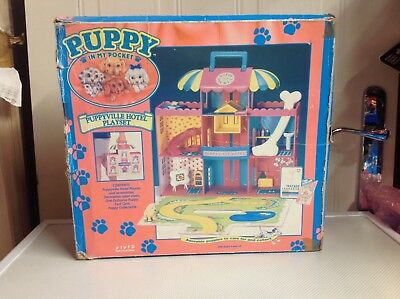 Puppy in my pocket puppyville hotel playset 1994 vivid imaginations with puppies