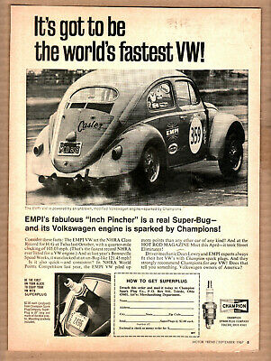 "EMPI VW Volkswagen Beetle Ad ""...the world's fastest VW"" Print Ad"