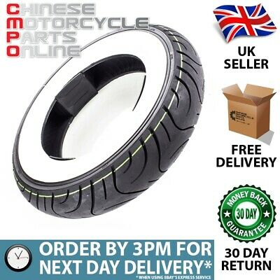 Scooter White Wall Tyre 3.50-10 J Tubeless (RTP35010WW)