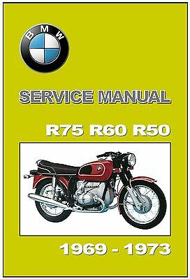 BMW 1971-73 R60/5 R75/5 Laminated Colour Wiring Diagram 43 x 28 cms on