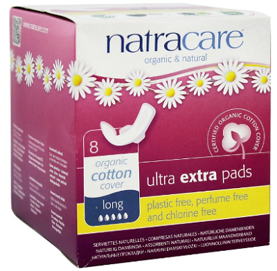 Natracare, Organic & Natural Ultra Extra Pads, long 8 count