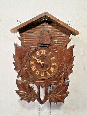 Unusual 1950's Weight Driven Japanese Cuckoo Clock For Parts Or Restoration