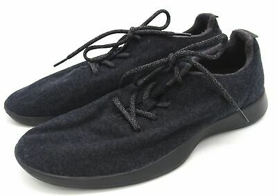 New without Box Men's Allbirds Lace Up Wool Runner Natural Black 8-13