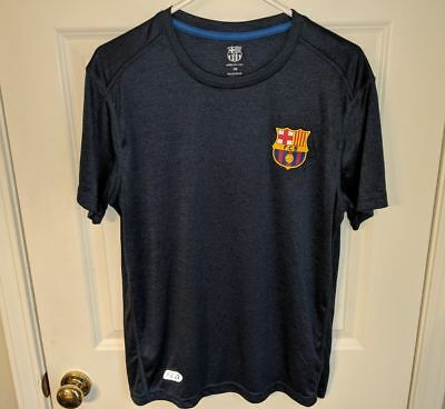f38e8410d FCB Futbol Club Barcelona Gray Athletic T-Shirt Soccer Football Mens Size  Large