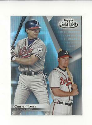 2018 Topps Gold Label Class 2 #8 Chipper Jones Braves