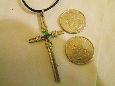 bling pewter jesus cross crucifix pendant charm CHURCH hip hop necklace JEWELRY