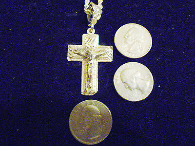 bling silver plated christian church jesus cross crucifix charm necklace jewelry