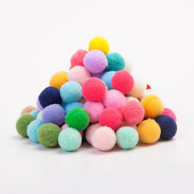 100/1000Pcs Mixed Color Soft Fluffy Round Pompom Balls DIY Craft Decoration 10mm