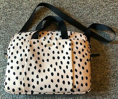 Kate Spade New York Pink & Black Print Laptop Bag Purse