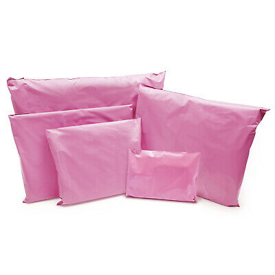 Pink Strong Mailing Parcel Postage Plastic Post Poly Bags Self Seal Cheap