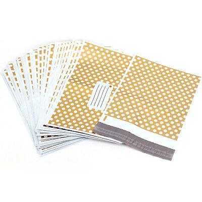Gold Polka Dots  CHEAPEST STRONG MAILING POSTAGE BAGS TOP QUALITY