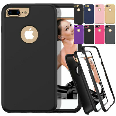 Shockproof Hybrid Rubber Armor Military Case Cover For Apple iPhone 8 7 Plus