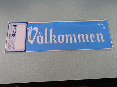 Scandinavian Swedish Danish Norwegian Welcome Stencil