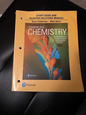 Chemistry An Introduction To General, Organic, And Biological Chemistry Study
