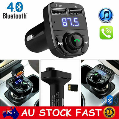 AU Wireless Bluetooth FM Transmitter Handsfree Car Kit USB Charger Radio Adapter