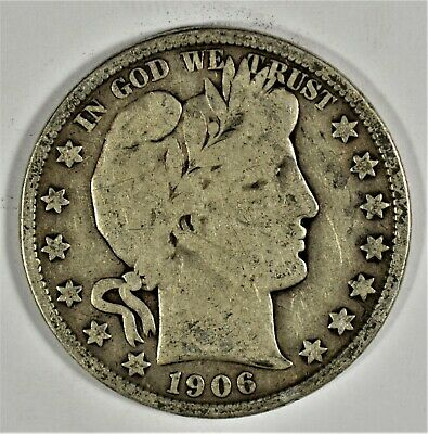 1906-S Collectible Silver Barber Half-Dollar (b536.95)