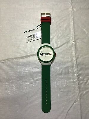 Lacoste Green Rubber Strap Watch Women's Mens Unisex NWT