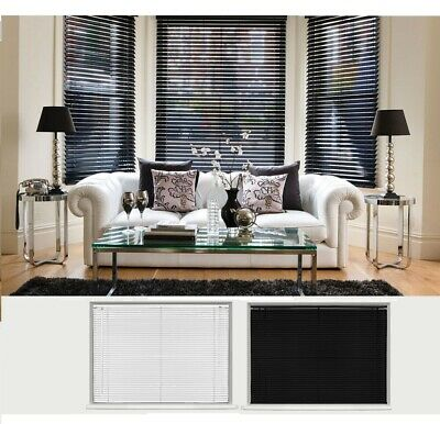 New Pvc Blinds Window Venetian Easy Fit Home Office Automatic CordLock All Sizes