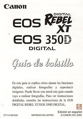eos digital rebel xt manual