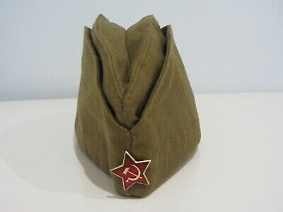 Pilotka Soviet Army Garrison Cap With A Red Asterisk Soviet Soldier Russian Ussr