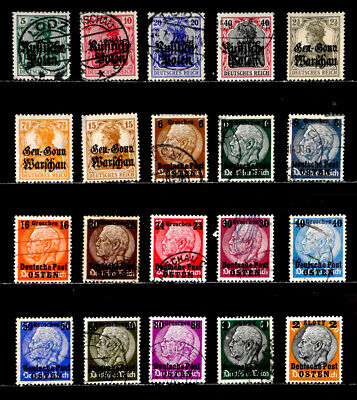 Poland, German Occupation: 1915 - 39 Classic Era Stamp Collection With Set