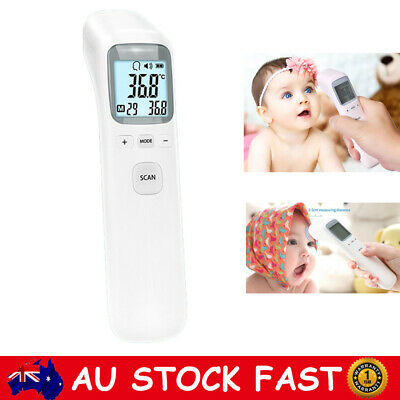 Baby Adult Professional Digital Infrared Forehead Thermometer Memory Recall CE