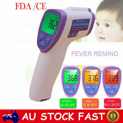 3in1 Baby Adult Digital Infrared Non-contact Forehead Thermometer Fever Alarm CE