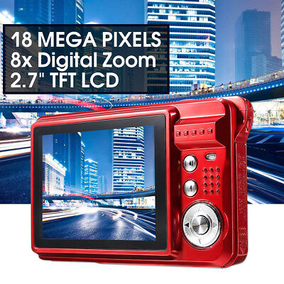 "2.7"" HD  Anti-Shake 18MP 8x Zoom TFT 720P LCD Digital Camera Video Camcorder DV"