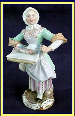 Antique Meissen Porcelain Figurine Fishmonger Cries of Paris series 19C (1312)