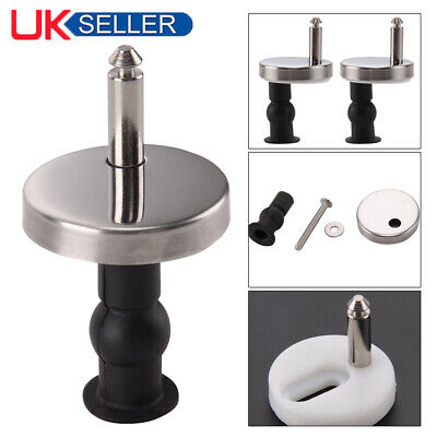 Pair Of Quality Top Fix Wc Toilet Seat Hinge Fittings Quick Release Hinges