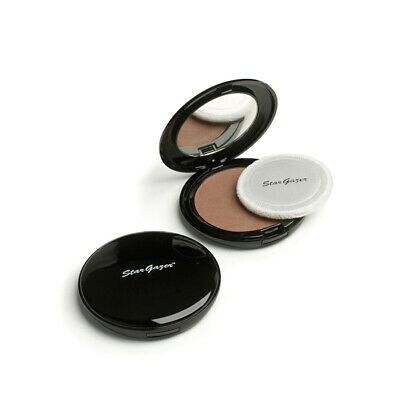 Stargazer Pressed Face Powder Compact Mirror Translucent White Natural Shimmer