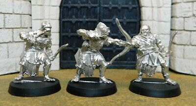 URUK HAI SCOUTS WITH BOW - Lord Of The Rings 3 Metal Figure(s)
