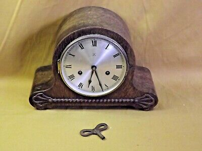 Vintage H.A.C. German Made Wind-Up Striking Mantle Clock. Faulty (Hospiscare)