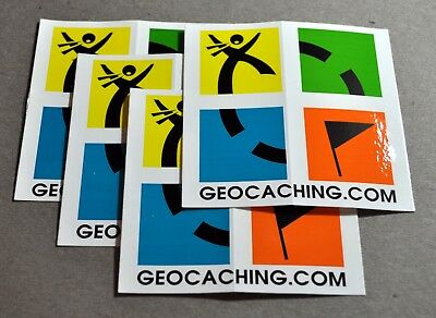 4 Official Geocache Color Logo Stickers 3.25 x 3.25