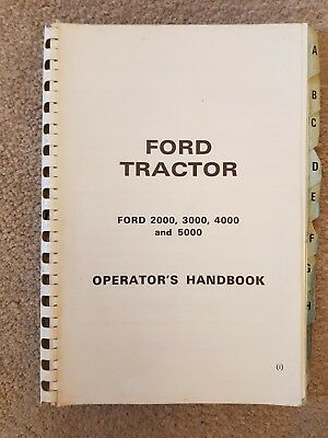 Ford 2000 3000 4000 5000 Tractor Operators Manual