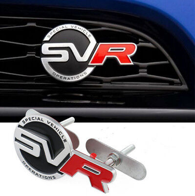 3D SVR front grille emblem Metal Badge For Land Rover Sport Supercharged SVR 1X