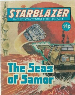 The Seas Of Samor,no.34,starblazer Space Fiction Adventure In Pictures,comic
