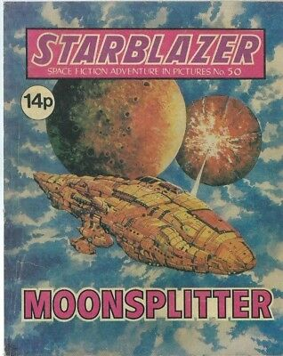 Moonspiltter,no.50,starblazer Space Fiction Adventure In Pictures,comic