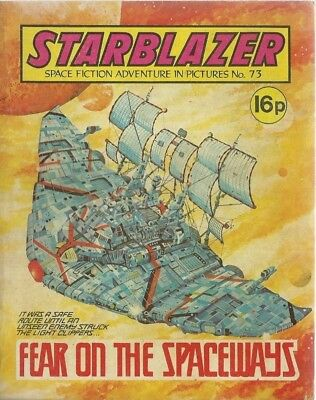 Fear On The Spaceways,no.73,starblazer Space Fiction Adventure In Pictures,comic