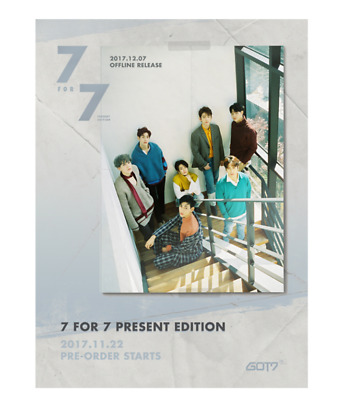"KPOP GOT7 7th Album Present Edition ""7 for 7"" Cozy Hour Ver - 1 Photobook + 1 CD"