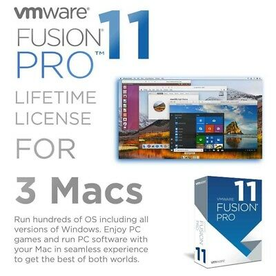 Vmware Fusion 11 Pro (MAC OS) Lifetime Genuine License Full Version (INSTANT)