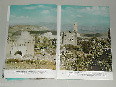 1952 magazine article about YEMEN, medical expedition, color photos