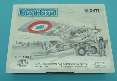 █▓▒Scarce resin kit MUSTHAVE 1/32 French Fighter Nieuport Delage NID 622░▒▓█