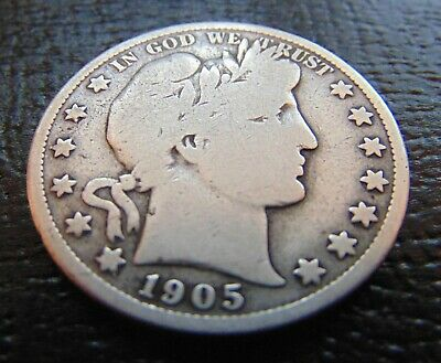 1905-S Silver Barber Half Dollar/circulated/coin You See Is Coin You Get/ #7494