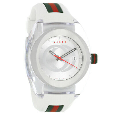 bedfbf41d3a77d GUCCI SYNC YA137102 White Rubber White Dial Unisex Watch Retail ...