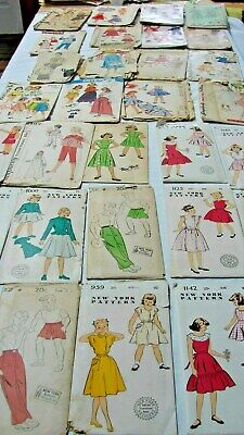 EARLY VINTAGE LOT 31 GIRLS BOYS CHILDRENS PATTERNS some NEW YORK, unopened