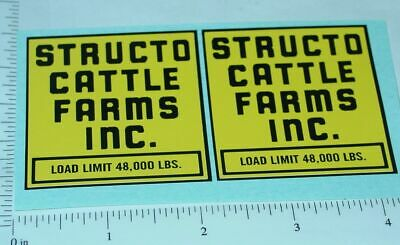 Structo Cattle Farms Semi Truck Stickers St-006 Stickers, Decals & Iron-ons
