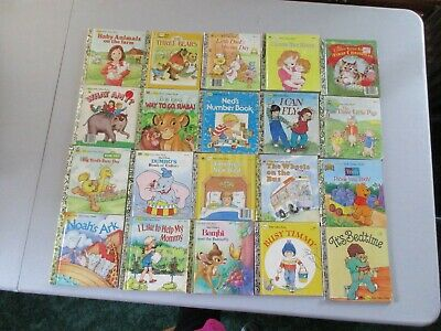 Lot of 20 First Little Golden Books Vintage Variety Children's Collectible