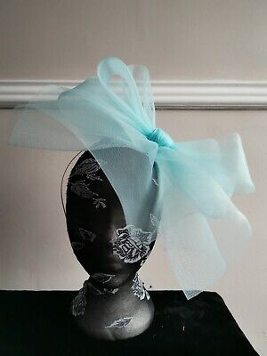 baby light blue fascinator millinery burlesque headband wedding hat hair piece