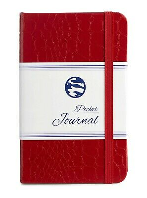 "Pocket Notebook | Journal - 3.5 x 5.5"" - Lightly Ruled - by CAMOLEAF - RED"